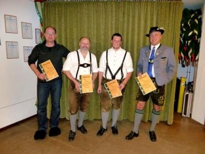 Bernd Egger, Karl Haas, Tobias Halder, Wolfgang März